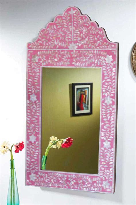 shop  pink mother  pearl inlay mirror frames mop