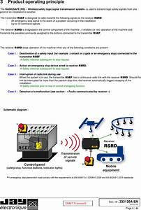 Rsef Wireless Safety Logic Signal Transmission System User Manual Installation Manual Jay