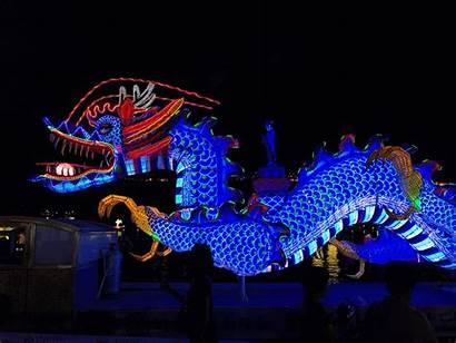 Festival Lantern Jinju Dragon Korea South Fire