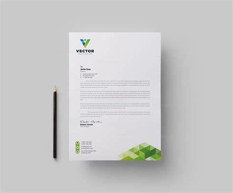 vector corporate letterhead design template