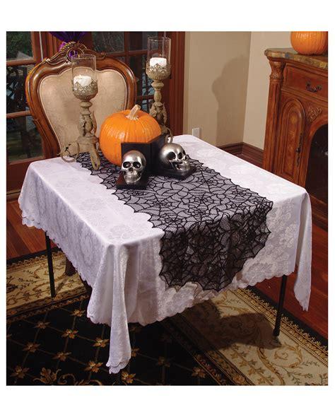 schwarzer spinnweben tischl 228 ufer mit spitze horror shop