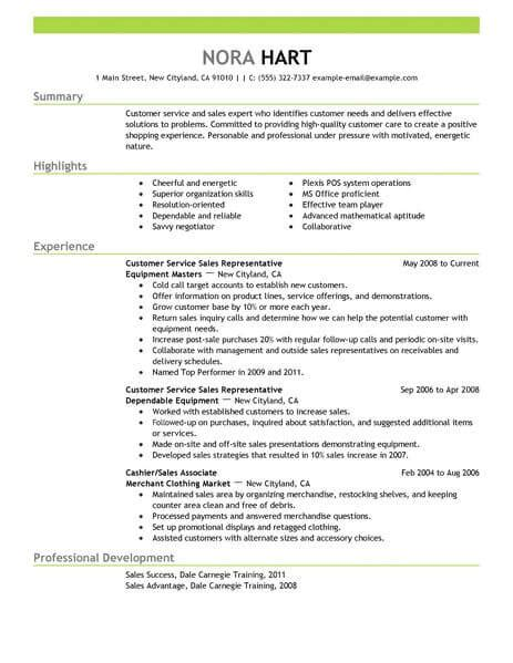 Summary Of Qualifications Customer Service by Best Customer Service Representatives Resume Exle From