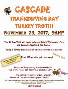 Thanksgiving Day Turkey Trot - Cascade Chamber of Commerce