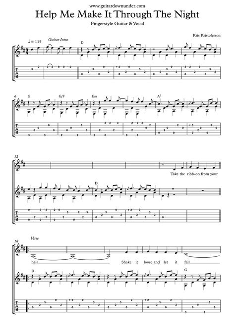 """""""help Me Make It Through The Night"""" Fingerstyle Guitar. Additional Information On Resume Examples. Sales Skills Resume. How Much Work History On Resume. Simple Sample Of Resume Format. Resume Skill List. Retail Management Resume. Computer Programmer Resume. Psw Resume Examples"""