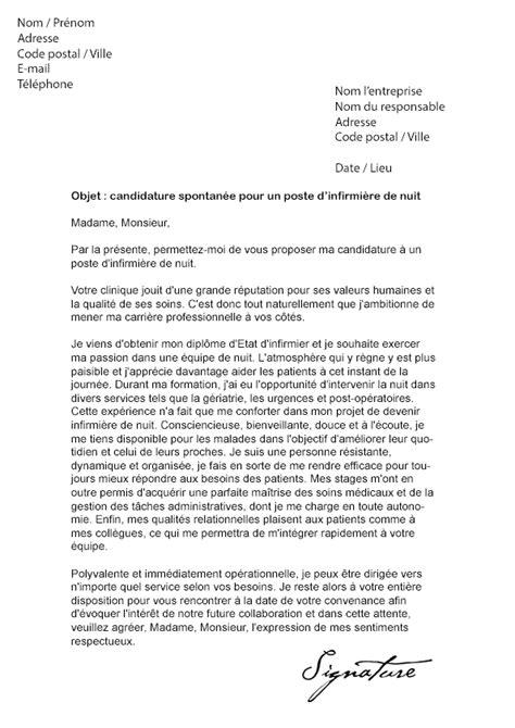 lettre de motivation cadre infirmier lettre de motivation infirmi 232 re de nuit mod 232 le de lettre