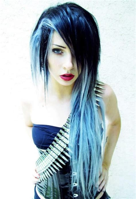 Light Blue Mixed With Dark Blue Hair Hairstyles