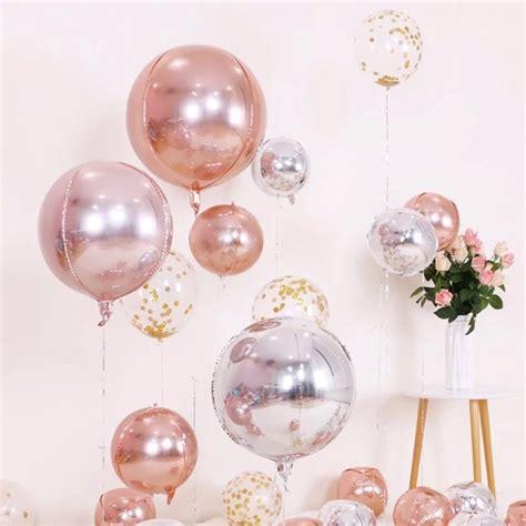 Emas rose gold cocok dikombinasikan dengan berlian atau safir. Balon Helium Bentuk Bulat Ukuran 18 Inci 4D Warna Emas ...