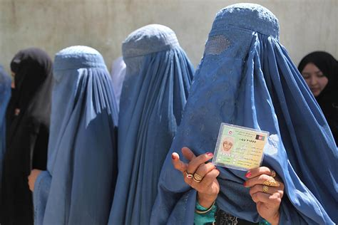 afghans vote  presidential election photo journal wsj