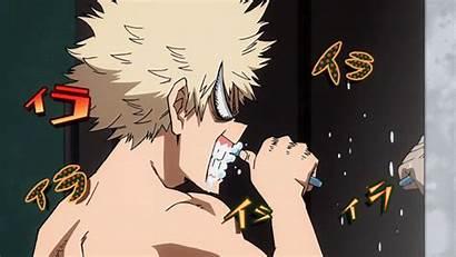 Academia Hero Teeth Anime Brushes Angrily Random