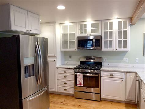 how to refinish maple cabinets painting maple cabinets white before and after cabinets