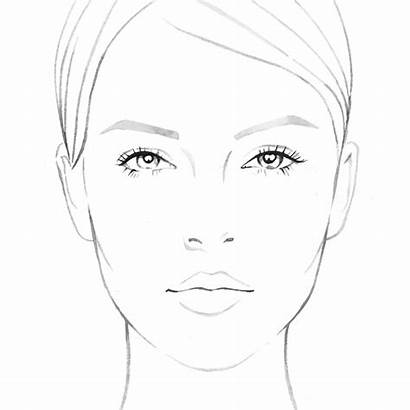 Face Makeup Drawing Sketch Charts Faces Sketches