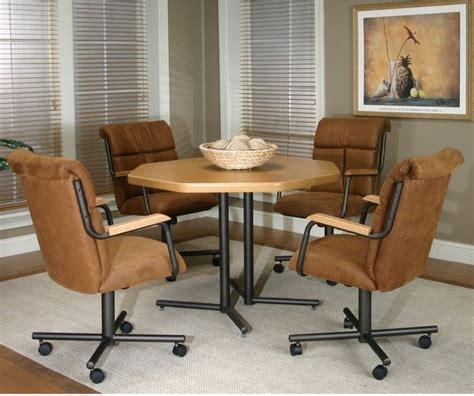 cramco landon 5 octagon castered dining set sunset