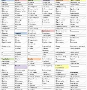 free printable shopping list templates With home shopping list template