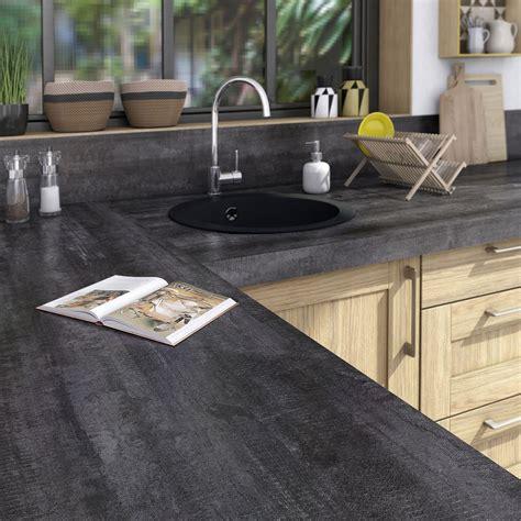plan de travail bureau leroy merlin plan de travail stratifié vintage wood noir mat l 315 x p
