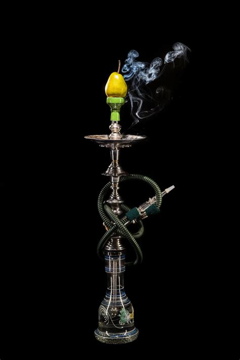 pear flavored hookah stock photo