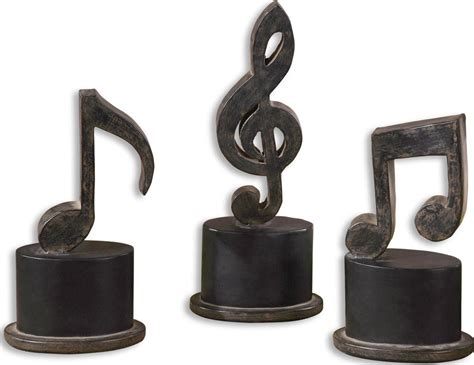 Music Notes Set Of 3 Uttermost