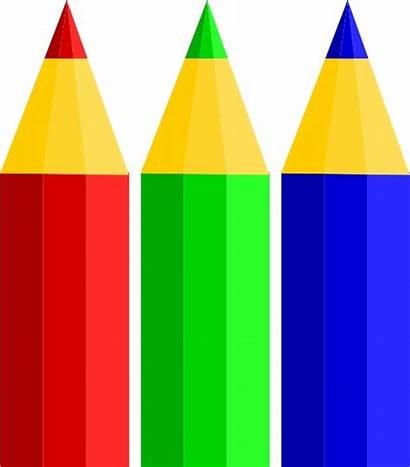 Pencil Pencils Clipart Clip Colored Vector Colouring