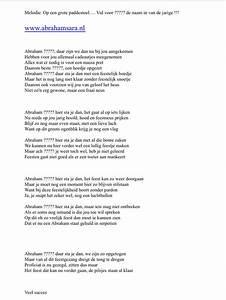 Abraham of sara Sarah lied 50 jaar op het refrein van Op ...