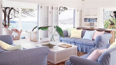 Folding Doors Completely Open Up This Beach Living Room To The Outdoor Patio 5 Breezy Rooms That
