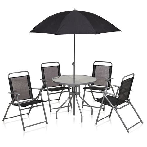wilko patio set black 6 at wilko