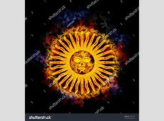 Sun May Argentinian Flag Ancient Inca Stock Illustration