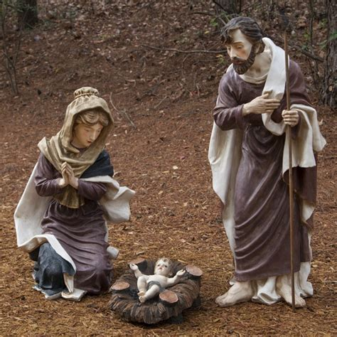 3 piece holy family christmas outdoor set collectibles nativity sets gifts 36 quot polyresin