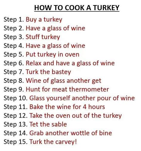 how to cook a turkey thanksgiving humor from previous years