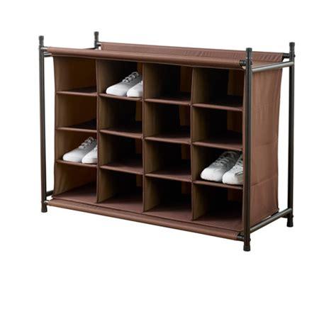 walmart storage rack neatfreak 16 compartment shoe rack brown walmart