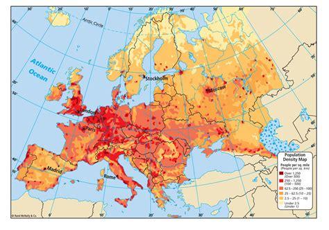 Carte Densité Population 2017 by Carte De L Europe Cartes Reliefs Villes Pays Ue