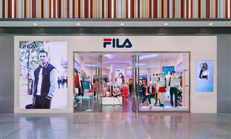 fila outlet livat shopping mall beijing china editorial