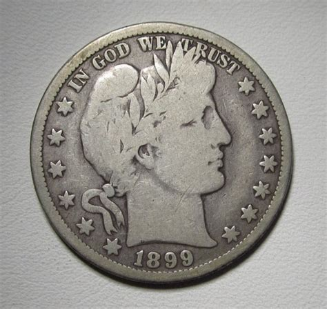 barber  dollar    good silver coin wded