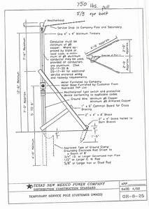 Temporary Power Pole Diagram
