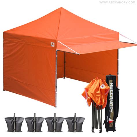 ez up gazebo 10x10 abccanopy ez pop up commercial market orange canopy