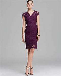 Asos Size Chart Dresses Lyst Papell Dress Cap Sleeve Lace In Purple