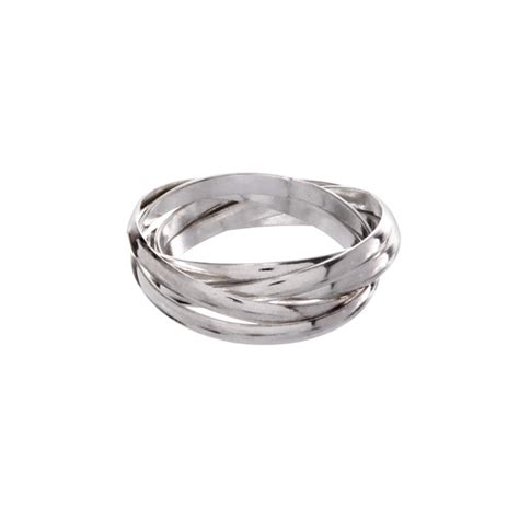 sterling silver 3mm five band russian wedding ring