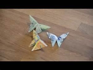 Origami Schmetterling Anleitung : geldschein falten schmetterling geldgeschenke basteln origami tiere mit geld falten zur ~ Frokenaadalensverden.com Haus und Dekorationen