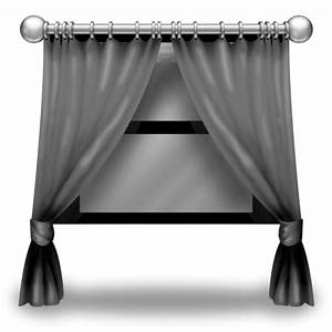 Grey curtains icon curtains icon softiconscom for Gray curtains png
