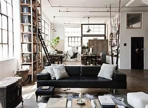 Sejour Style Industriel : style industriel pour un loft moderne de ville design feria ~ Teatrodelosmanantiales.com Idées de Décoration