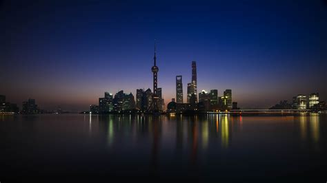 shanghai  sunrise china  uhd wallpaper