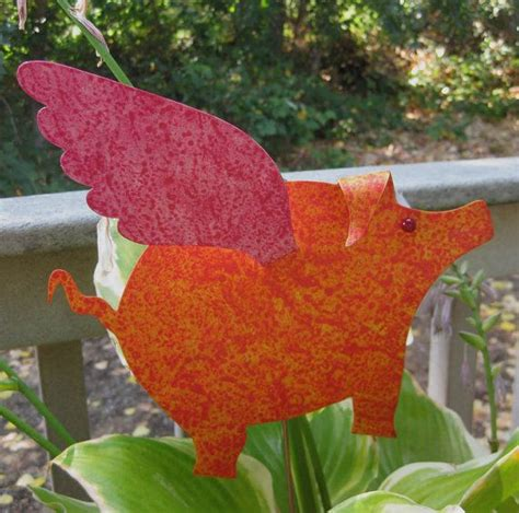 pink flying pig outside christmas decoration 17 best images about yard decor on planters