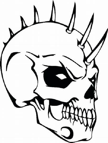 Skull Coloring Evil Pages Skulls Scary Drawing