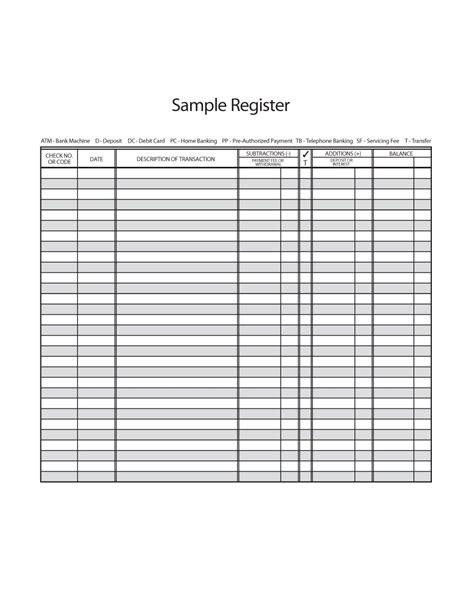 37 Checkbook Register Templates [100% Free, Printable