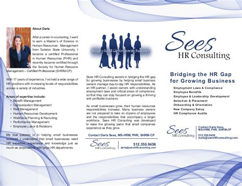 front sees hr consulting brochure