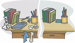 messy student desk clipart - Clipground