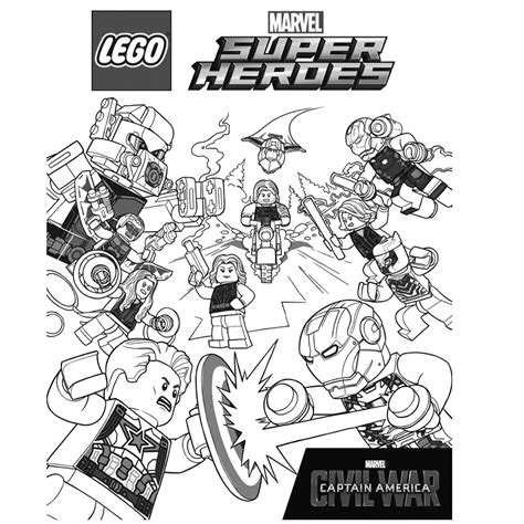 Kleurplaat Lego Dc Comics by Lego Superheroes Coloring Pages For