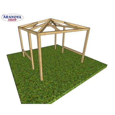 gazebo usato 3x3 gazebo in legno 3x3 in pino lamellare aranova legno