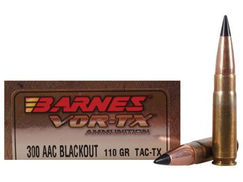 barnes vor tx 300 blackout barnes vor tx ammo 300 aac blackout 110 grain tipped tac