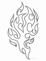 Fire Coloring Printable sketch template