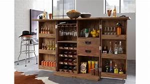 Bar Im Wohnzimmer : bar 6909 container von wolf m bel massivholz sheesham natur ~ Indierocktalk.com Haus und Dekorationen