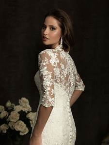 elegant collections of lace wedding dresses with 3 4 With 3 4 sleeve lace wedding dress